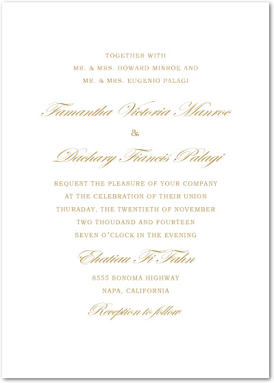 Traditional But Funny Text Wedding Invites HPI078