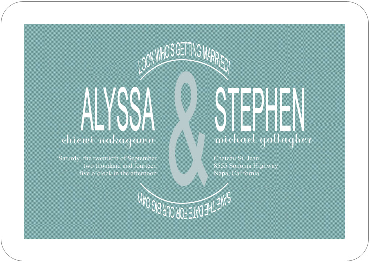 Classic Vertically Symmetrical Wedding Invites HPI083