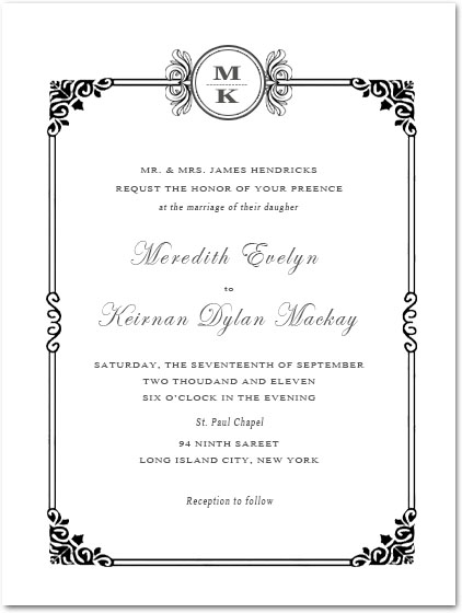 Sophisticated Art Deco Wedding Invitations HPI089