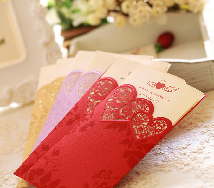 Sweety Pocket Invitations For Wedding Promise HPI254