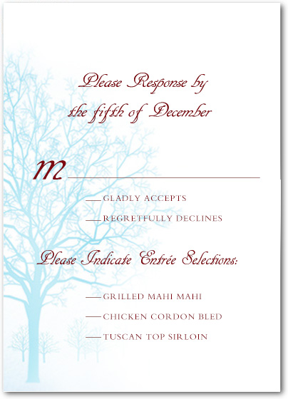 Autumn Peppermint Trees Response Cards HPR032
