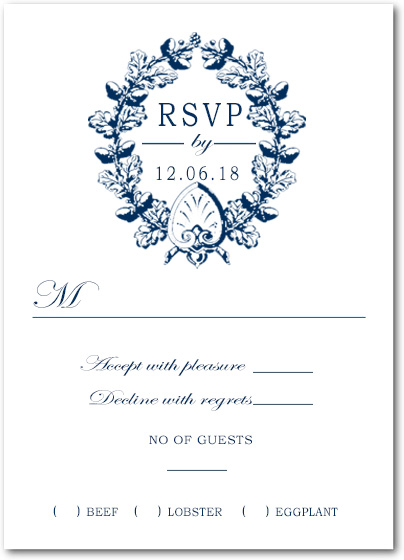 Ethnic Print Linen Response Cards HPR035