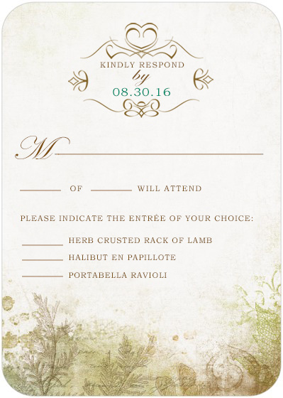 Confer Medals Wedding Reply Cards HPR037