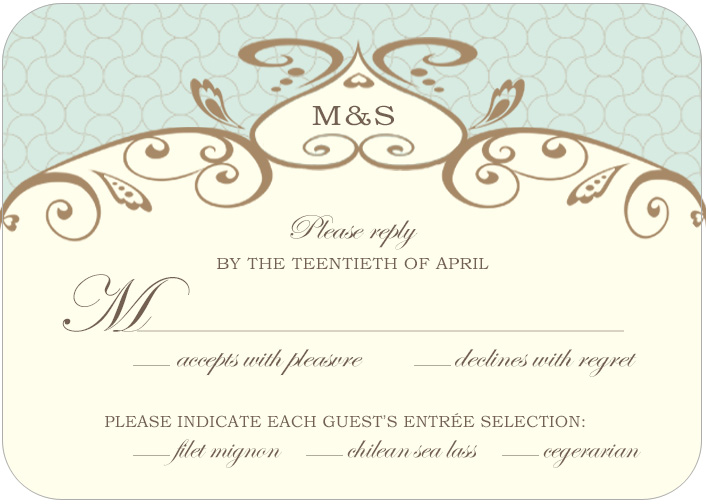 Unique Irregular Grid Lines Wedding RSVP Cards HPR038
