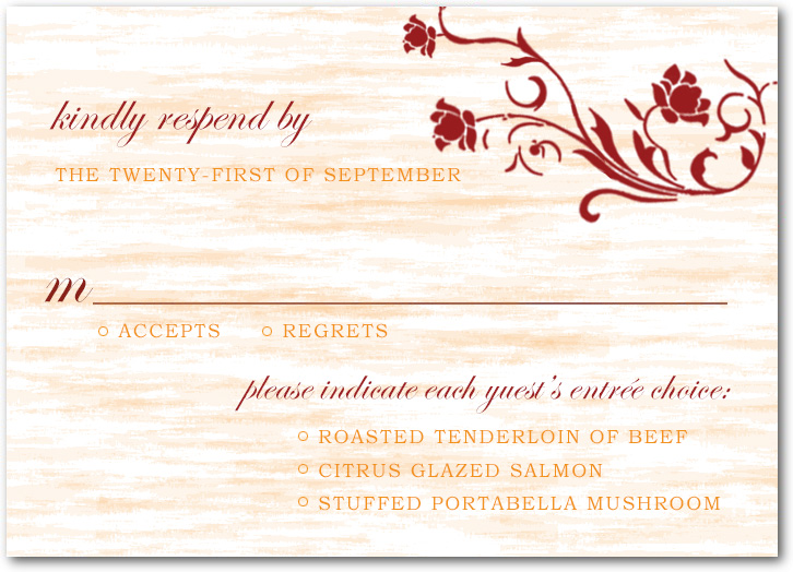 Natural Floral Bright Wedding RSVP Cards HPR049