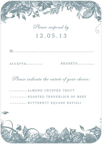 Enchanted Vines plants Circle RSVP Cards HPR055