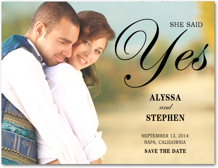 Stunning Romantic Photo Save The Dates Card HPS004