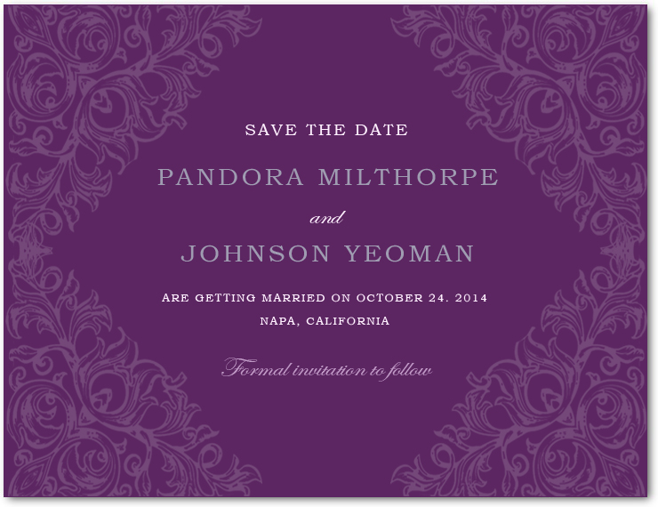 Abstract Sketch Of Plants Save The Date Cards HPS018