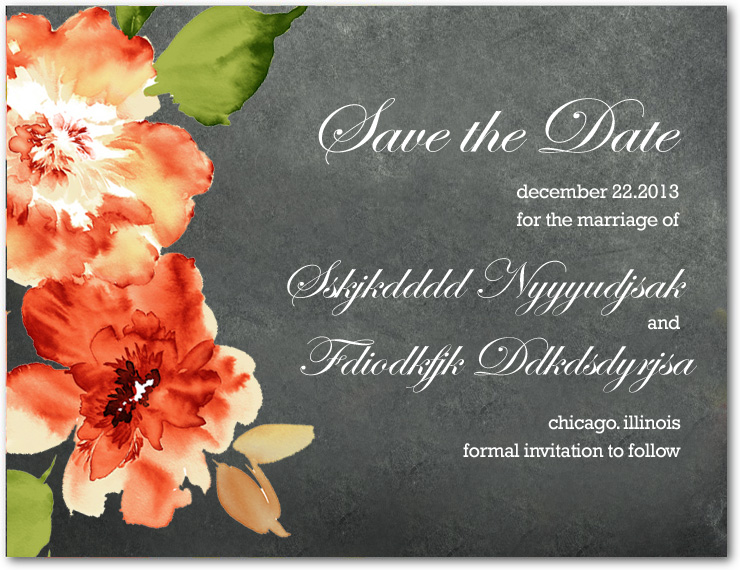 Orange African Daisy Save The Date Cards HPS022