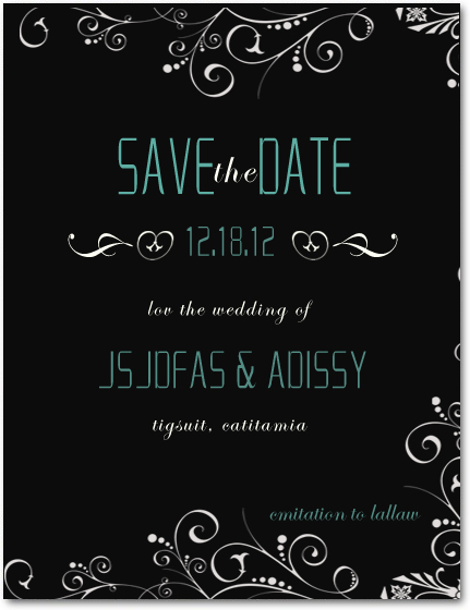 Black And White Save The Date Cards HPS024