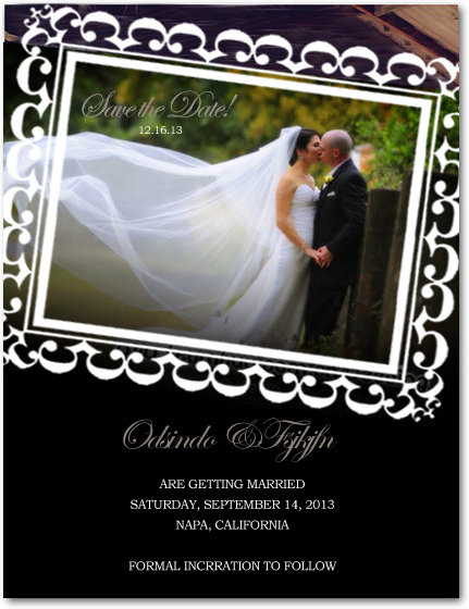 Stamp Photo Masterpiece Save The Date Cards HPS029
