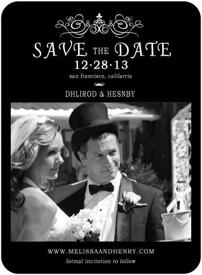 Candlestick Stick Figure Save The Date Cards HPS030