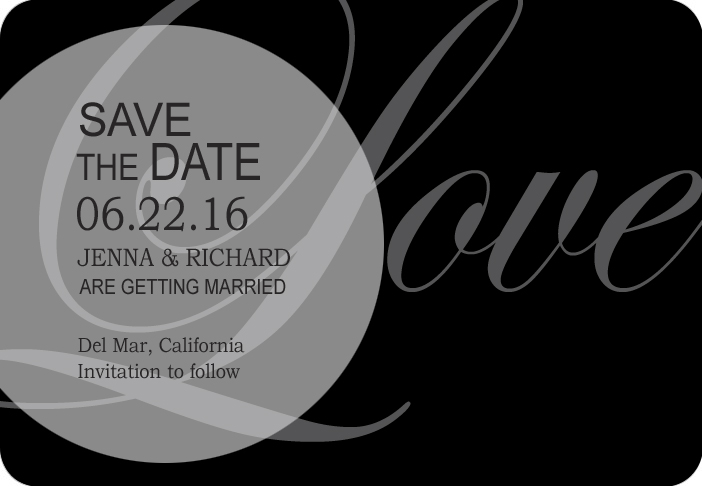 Love Title Theme Wedding Save A Date Cards HPS041