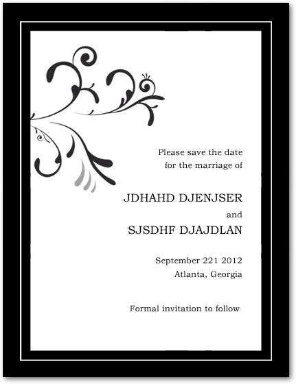 Flourish And Neutral Scroll Wedding Save The Dates HPS042