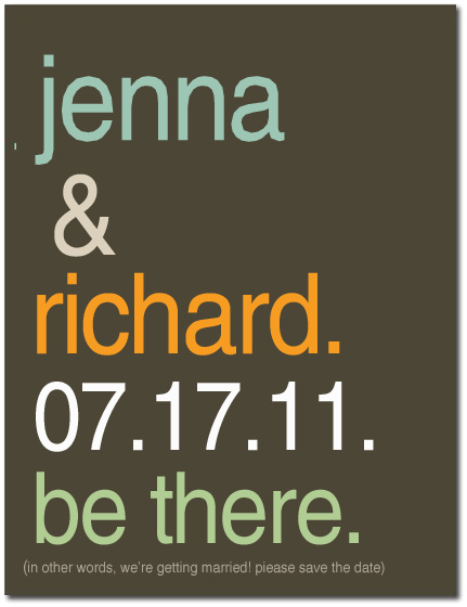 Simple Title Save The Date CardS HPS061