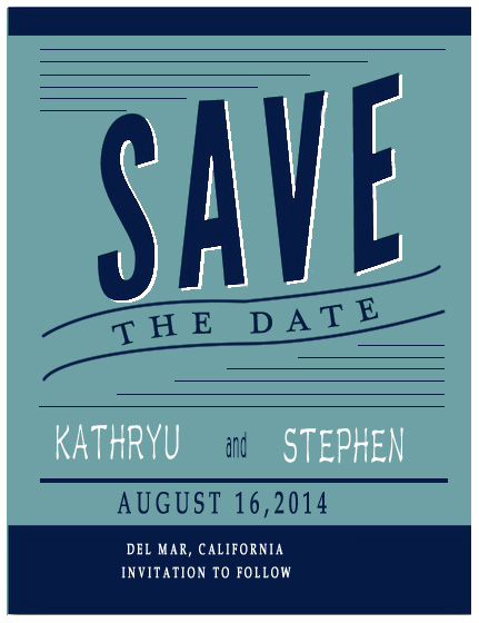 Gorgeous Postcard Save The Date CardS HPS063