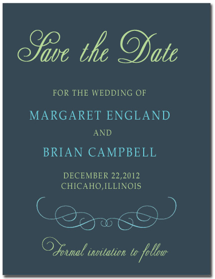 Beautiful Curve Typography Save The Date CardS HPS064