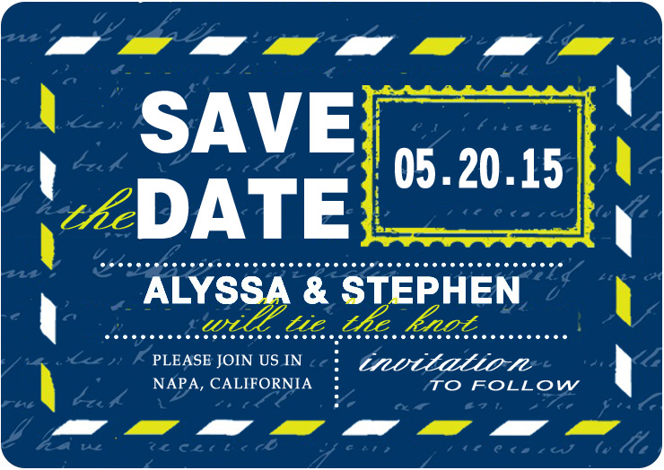 Post American Map Save The Dates CardS HPS069