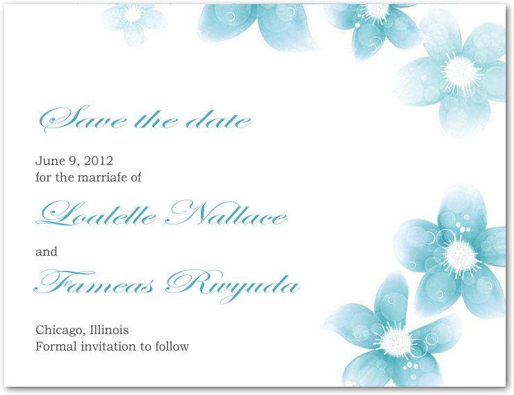 Smell Of Fresh Ink Save The Dates Card HPS075