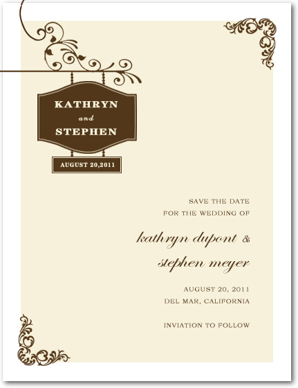 Charming And Simple Outside Save The Date Card HPS086