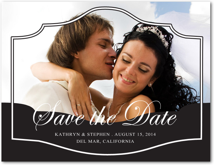 Different Unique Together Photo Save The Dates Cards HPS090