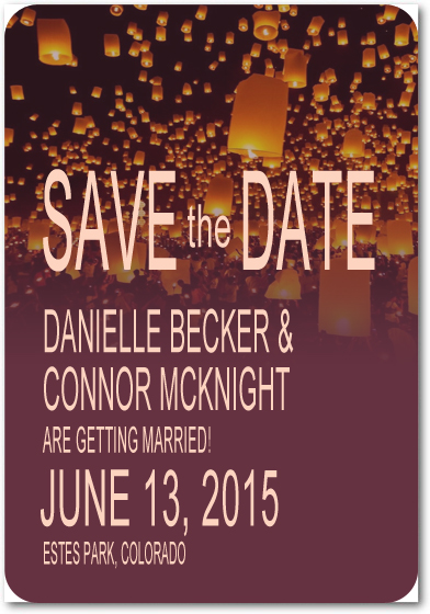 Shock Candle Reflection Effect Save The Dates HPS097
