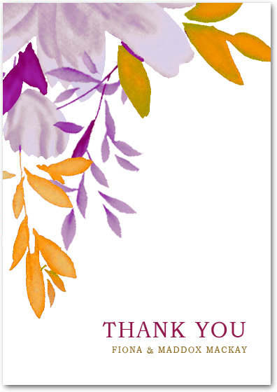 Chinese Ink And Wash Color Thank You Card HPT012