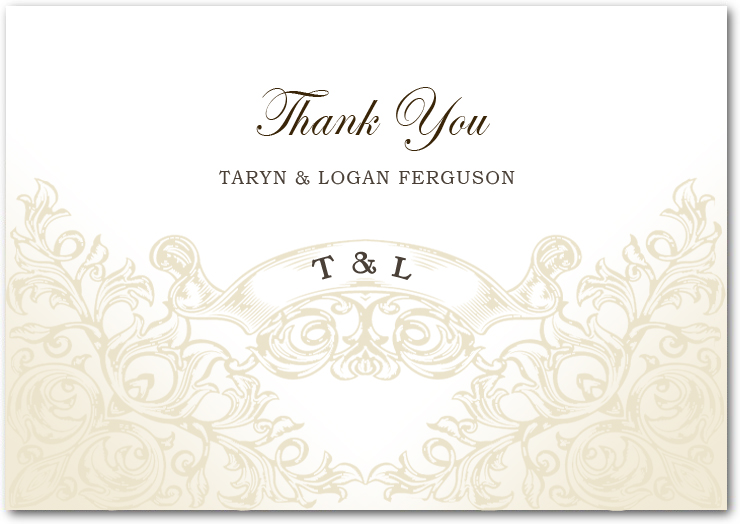 Ring Bell And Scroll Frame Thank You Card HPT014