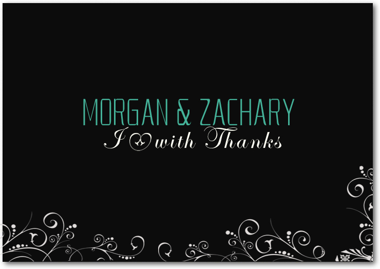 Black And White Thank You Card HPT024