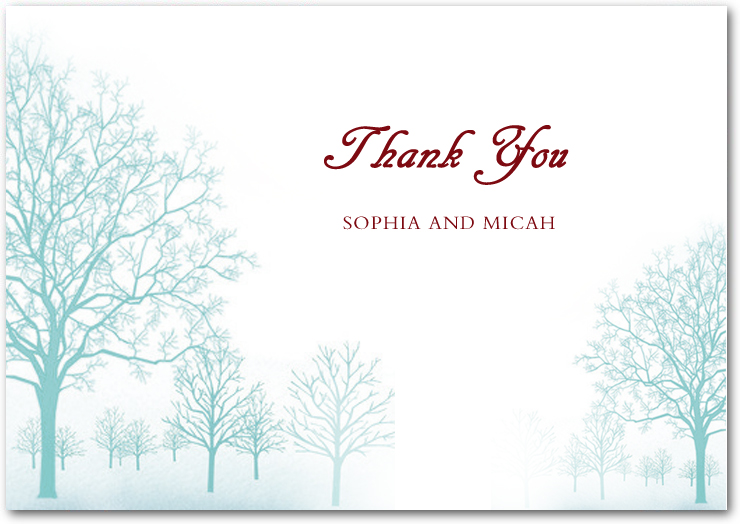 Autumn Peppermint Trees Thank You Cards HPT032