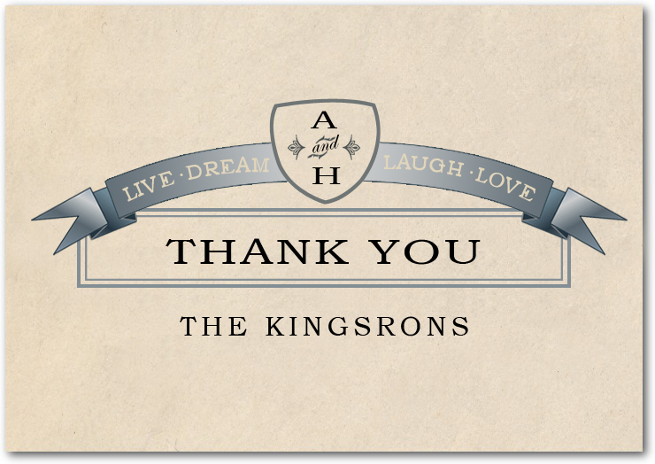 Confer Medals Wedding Thank You Card HPT036
