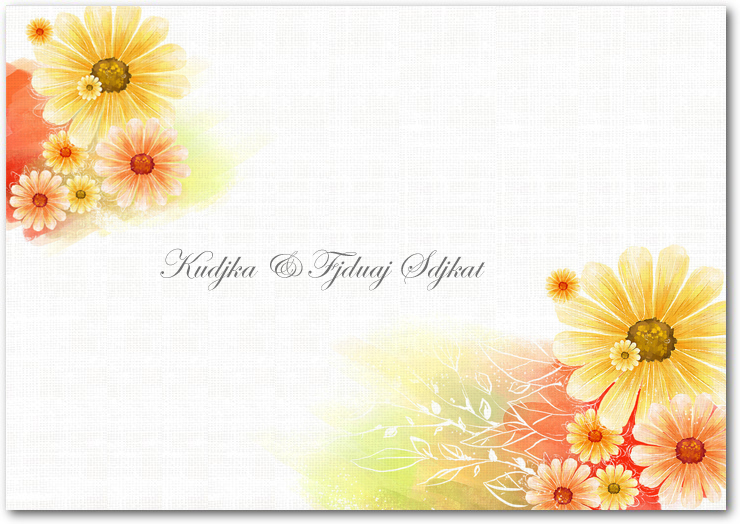 Summer Sunflower Bright Wedding Thanks You Card HPT039
