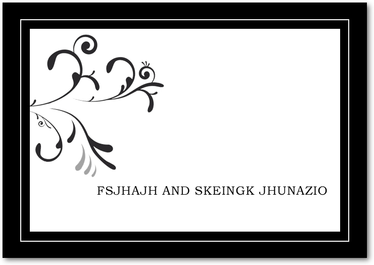 Flourish And Neutral Scroll Wedding Thanks Cards HPT042