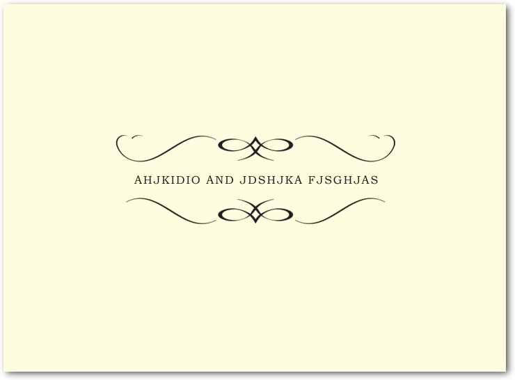 Windswept Simple symmetrical Wedding Thanks Cards HPT048