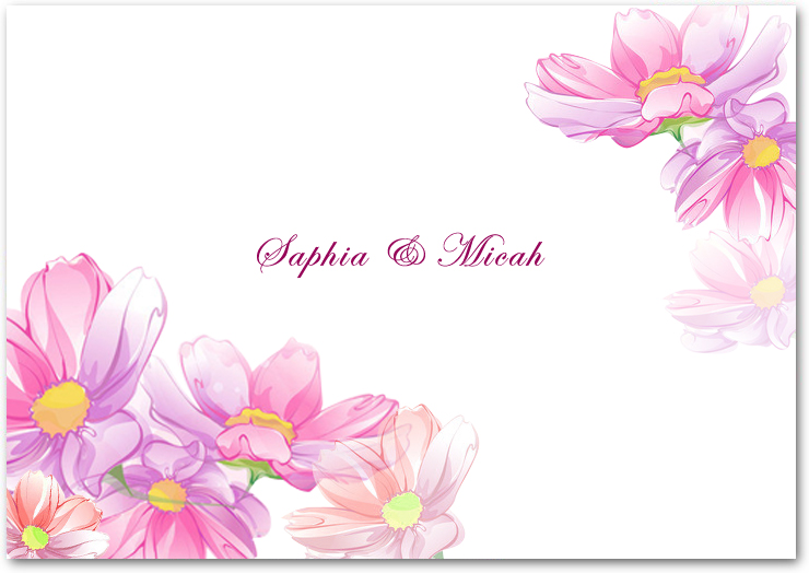 Colorful Watercolor Floral Thanks Cards HPT051