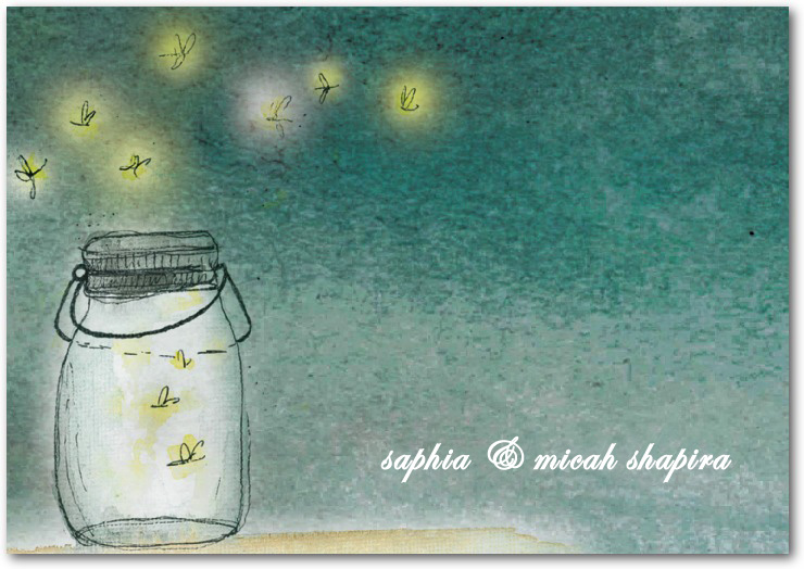 Romantic Fireflies Night Thanks Card HPT080