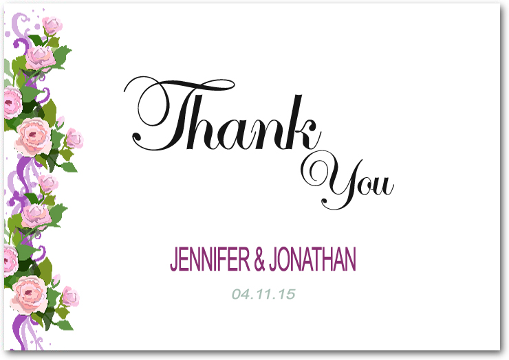 Clear And Fresh Lake Flower Deco Thank You Cards HPT084