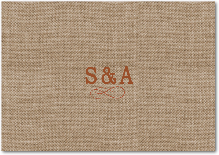 Imitation Burlap Embroidery Style Thanks You Card HPT096