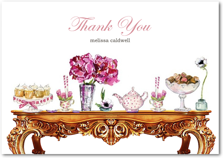 Colorful Wedding Table Drecor Thank You Card HPT102