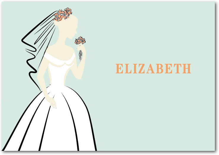 Elegance Bride Figure Thank You Card HPT123