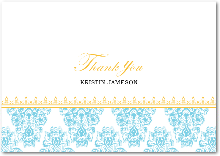 Elegance Brocade Thank You Card HPT129