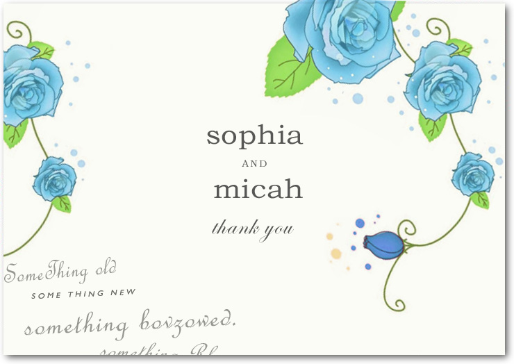 Sketchbook Flowers Thank You Card HPT134