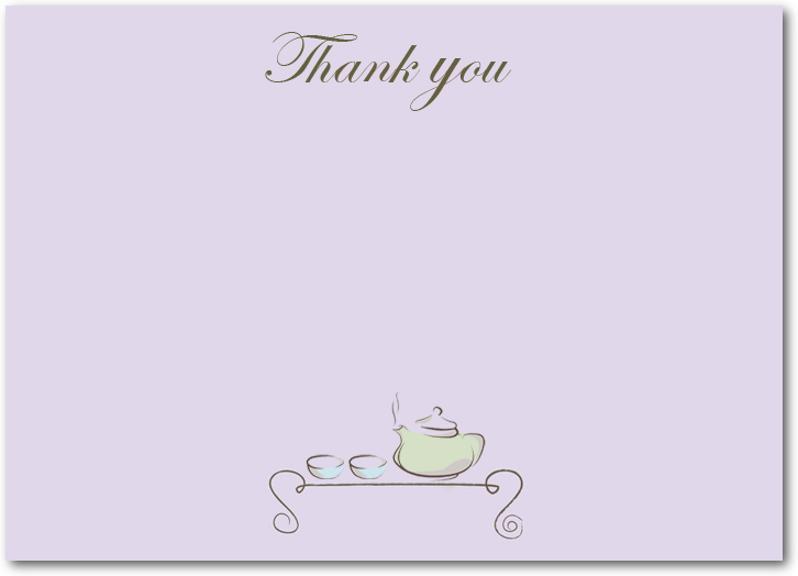 The Tea Ceremony Thank You Cards HPT138