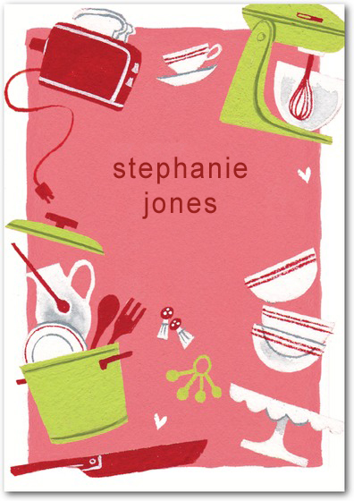 Tableware Kitchen Thank You Card HPT163