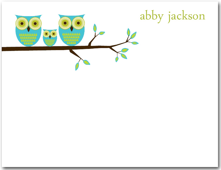 Owl Families Thank You Cards HPT232