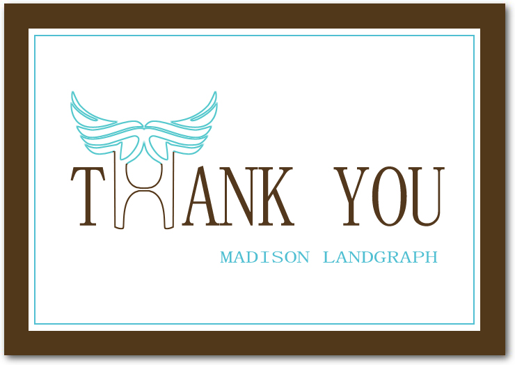 Angel Wing Thank You Cards Invitations HPT239