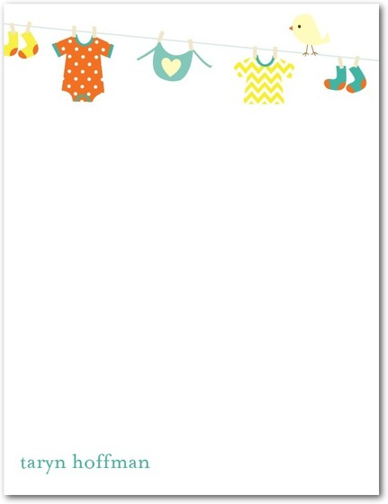 Lovely Kid Clothes Whisper Thank You Cards HPT244
