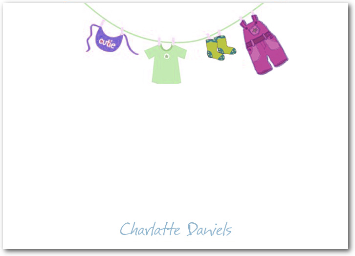 Baby Dressing Show Thanks Cards HPT252