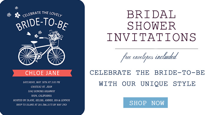 Bridal Shower Party Invitations with trends