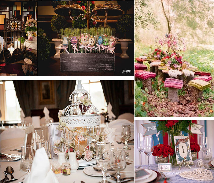 Alice in Wonderland themed wedding party Inspirations ...
